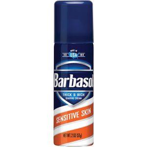 Barbasol Shave Cream Sensitive Skin 2 oz
