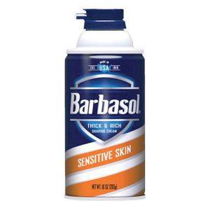 Barbasol Sensitive Skin Shave Cream 10 oz Aerosol