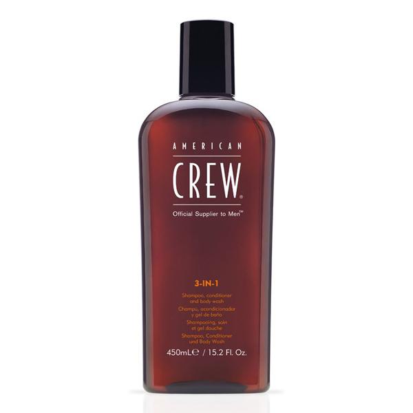 American Crew 3-in-1 Shampoo, Conditioner & Body Wash 15.2 oz Bottle