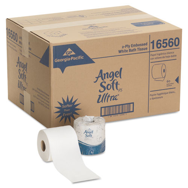ANGEL SOFT ULTRA PROFESSIONAL SERIES® 2-PLY EMBOSSED TOILET PAPER, BY GP PRO (GEORGIA-PACIFIC), 60 ROLLS PER CASE