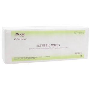 "Dukal Reflections 100% Cotton Non Woven Esthetic Wipe 4""x4"" 200 per bag - 900310"