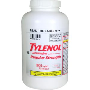 Tylenol Extra Strength 1000 count bottle
