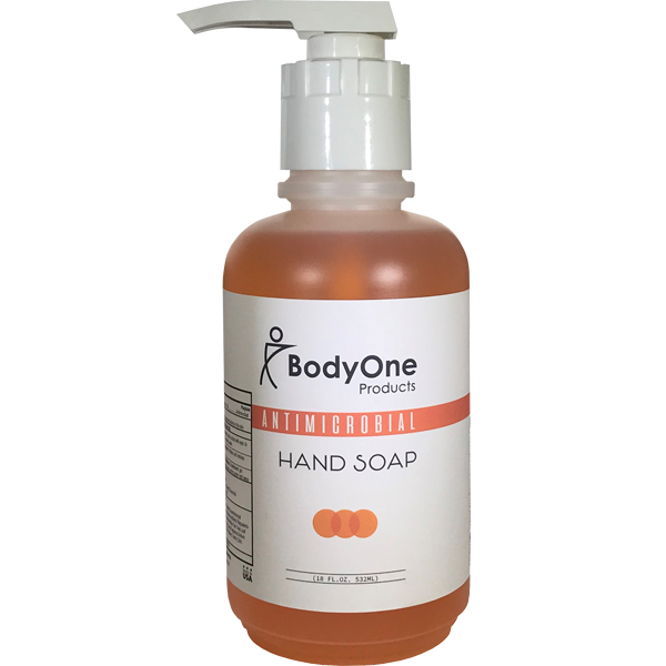 Body One Products Orange Antimicrobial Hand Soap 18 oz with Pump