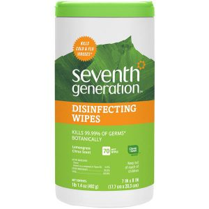 Seventh Generation Lemongrass Disinfectant wipes 70 per canister